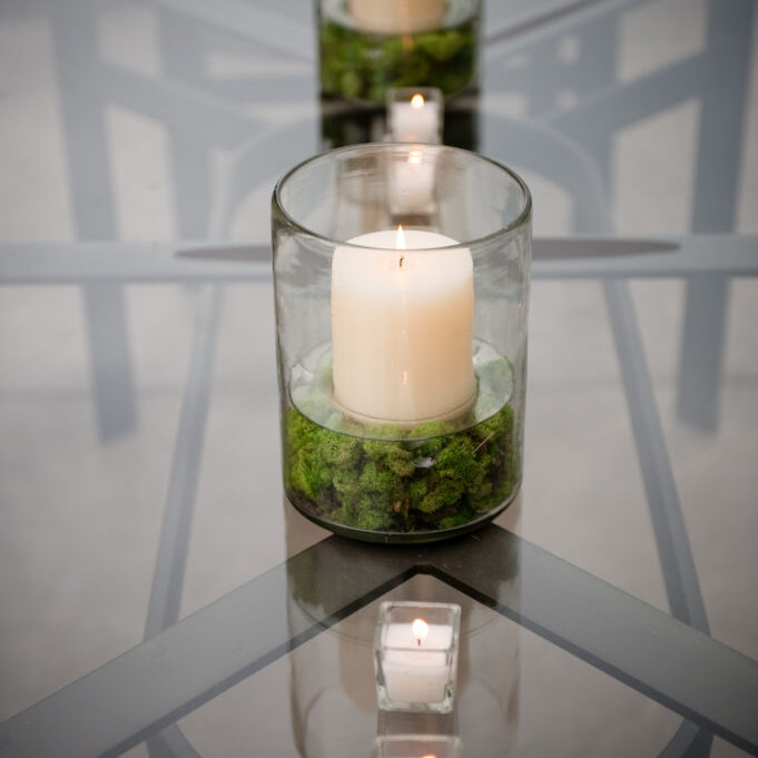 Hanson Wedding Candles at Greens Point Catering event